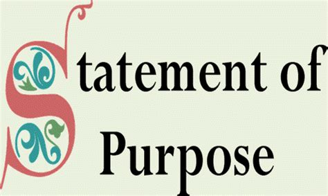 Sample Statement of Purpose - College of Letters & Science
